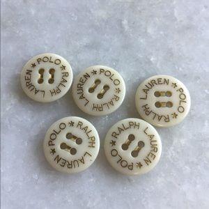 Ralph Lauren Polo Odd White Buttons